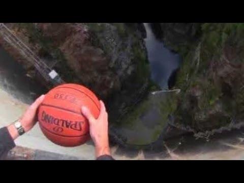 Kosárlabda 140 méter magasból (Magnus-effektus)